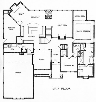 hearth room and kitchen floor plans. hearth. home plan and house